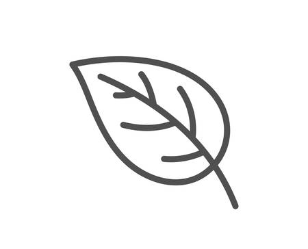 Leaf line icon. Nature plant sign. Environmental care symbol. Quality design flat app element. Editable stroke Leaf icon. Vector Banque d'images - 112887010