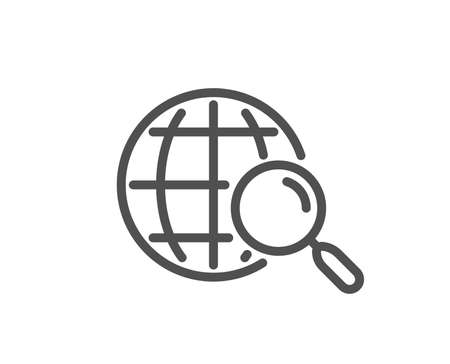 Web search line icon. Find internet results sign. Quality design flat app element. Editable stroke Web search icon. Vector