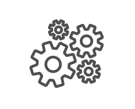 Icône de ligne à crémaillère. Signe d'outil d'ingénierie. Symbole d'engrenage à crémaillère. Élément d'application plat de conception de qualité. Icône de roue dentée de course modifiable. Vecteur