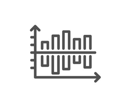 Diagram chart line icon. Column graph sign. Market analytics symbol. Quality design flat app element. Editable stroke Diagram chart icon. Vector
