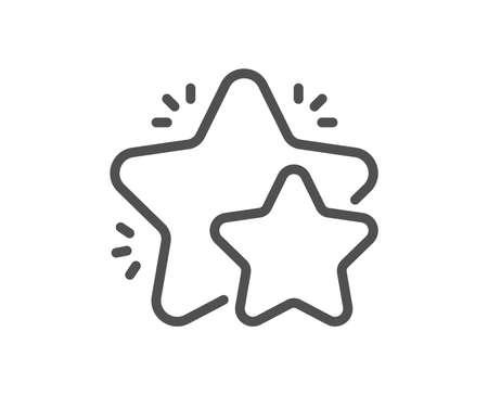 Star line icon. Feedback rating sign. Customer satisfaction symbol. Quality design flat app element. Editable stroke Star icon. Vector