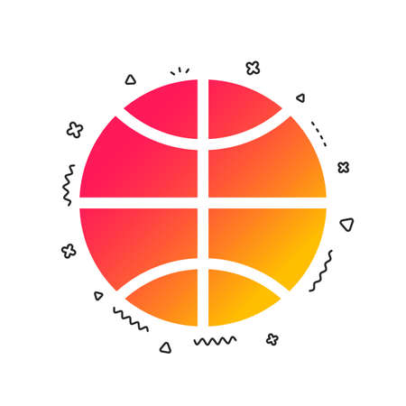 Basketball sign icon. Sport symbol. Colorful geometric shapes. Gradient basketball icon design.  Vector