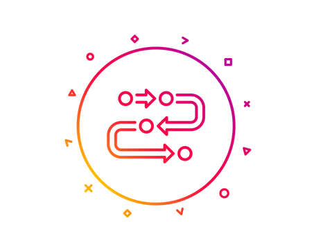 Methodology line icon. Development process sign. Strategy symbol. Gradient pattern line button. Methodology icon design. Geometric shapes. Vector
