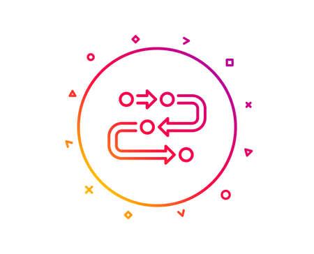 Methodology line icon. Development process sign. Strategy symbol. Gradient pattern line button. Methodology icon design. Geometric shapes. Vector