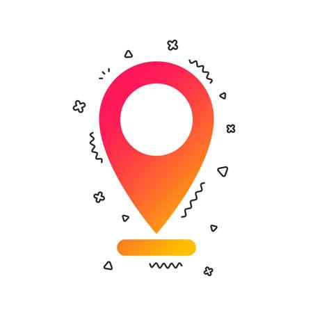 Internet mark icon. Navigation pointer symbol. Position marker sign. Colorful geometric shapes. Gradient internet icon design.  Vector Archivio Fotografico - 112671114