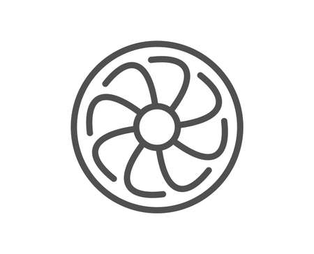 Fan engine line icon. Jet turbine sign. Ventilator symbol. Quality design flat app element. Editable stroke Fan engine icon. Vector 일러스트
