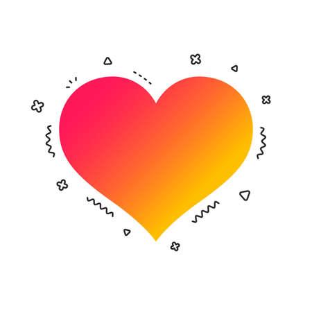 Love icon. Heart sign symbol. Colorful geometric shapes. Gradient love icon design.  Vector