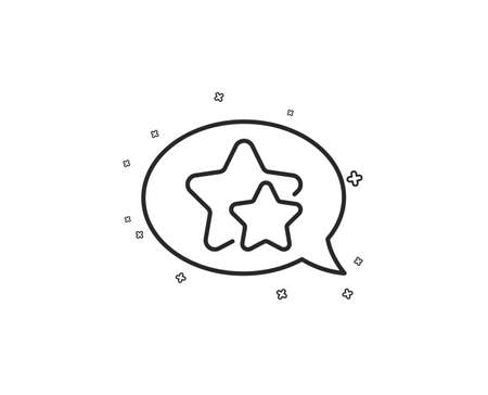 Stars line icon. Favorite sign. Positive feedback symbol. Geometric shapes. Random cross elements. Linear Star icon design. Vector Illustration