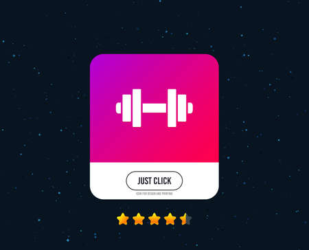 Dumbbell sign icon. Fitness symbol. Web or internet icon design. Rating stars. Just click button. Vector Çizim