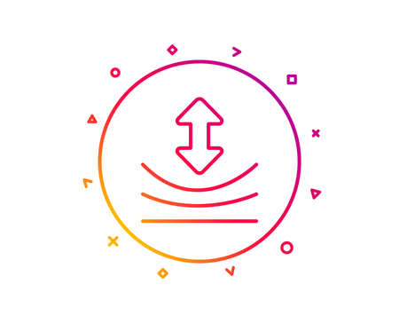 Resilience line icon. Elastic material sign. Gradient pattern line button. Resilience icon design. Geometric shapes. Vector  イラスト・ベクター素材