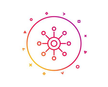 Multichannel line icon. Multitasking sign. Omnichannel symbol. Gradient pattern line button. Multichannel icon design. Geometric shapes. Vector Illustration