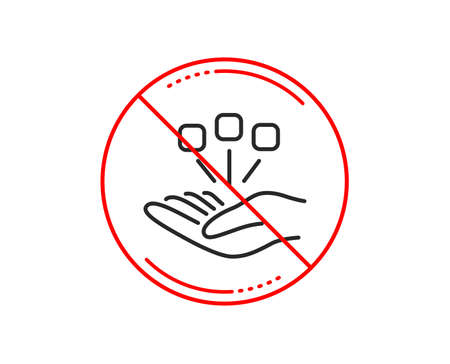 No or stop sign. Consolidation line icon. Business strategy sign. Caution prohibited ban stop symbol. No  icon design.  Vector