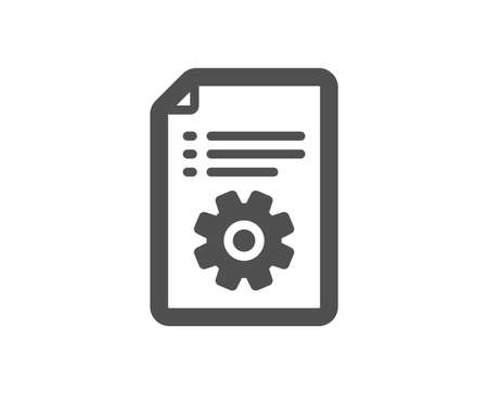 Technical documentation icon. Instruction sign. Quality design element. Classic style icon. Vector