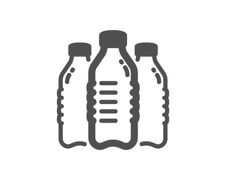 Water bottles icon. Still aqua drink sign. Liquid symbol. Quality design element. Classic style icon. Vector