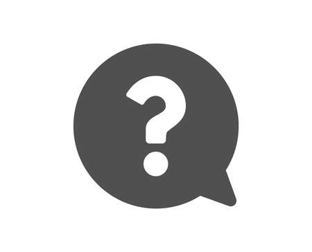 Question mark icon. Help speech bubble sign. FAQ symbol. Quality design element. Classic style icon. Vector