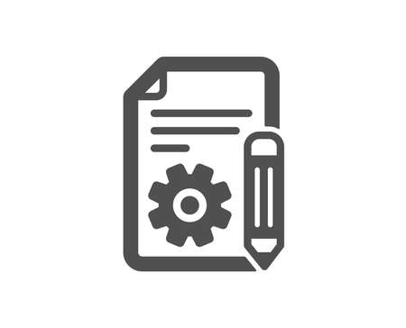 Documentation icon. Technical instruction sign. Quality design element. Classic style icon. Vector