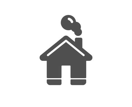 Home icon. House sign. Building or Homepage symbol. Quality design element. Classic style icon. Vector 向量圖像