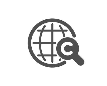 International Ð¡opyright icon. Copywriting sign. World symbol. Quality design element. Classic style icon. Vector