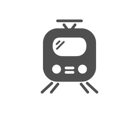 Train transport icon. Public transportation sign. Tram symbol. Quality design element. Classic style icon. Vector