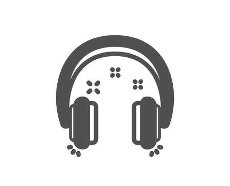 Headphones icon. Music listen sign. Musical earphones symbol. Quality design element. Classic style icon. Vector