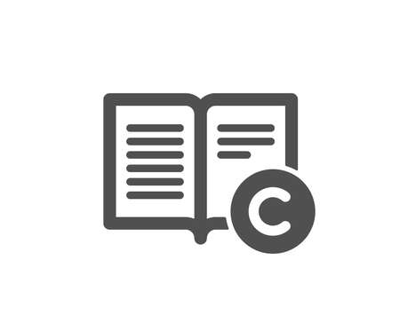 Copyright icon. Copywriting or Book sign. Feedback symbol. Quality design element. Classic style icon. Vector
