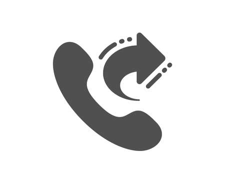 Call center service icon. Share phone call sign. Feedback symbol. Quality design element. Classic style icon. Vector