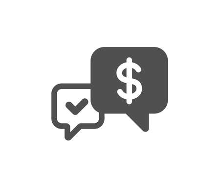 Payment receive icon. Dollar exchange sign. Finance symbol. Quality design element. Classic style icon. Vector Illustration