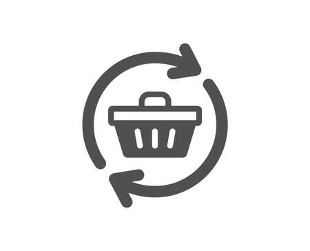 Update Shopping cart icon. Online buying sign. Supermarket basket symbol. Quality design element. Classic style icon. Vector Illustration