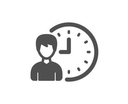 Business project deadline icon. Working hours or Time management sign. Quality design element. Classic style icon. Vector Ilustracja
