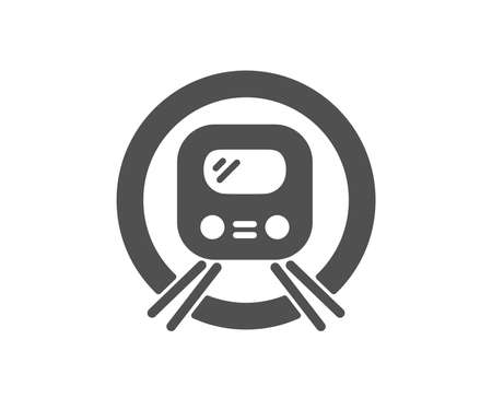 Metro subway transport icon. Public underground transportation sign. Quality design element. Classic style icon. Vector