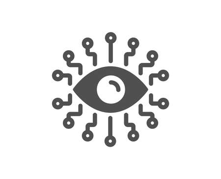 Artificial intelligence icon. All-seeing eye sign. Quality design element. Classic style icon. Vector