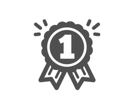 Reward Medal icon. Winner achievement or Award symbol. Glory or Honor sign. Quality design element. Classic style icon. Vector