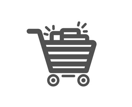 Shopping cart icon. Sale Marketing symbol. Special offer sign. Quality design element. Classic style icon. Vector