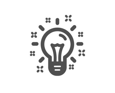 Idea icon. Light bulb or Lamp sign. Creativity, Solution or Thinking symbol. Quality design element. Classic style icon. Vector