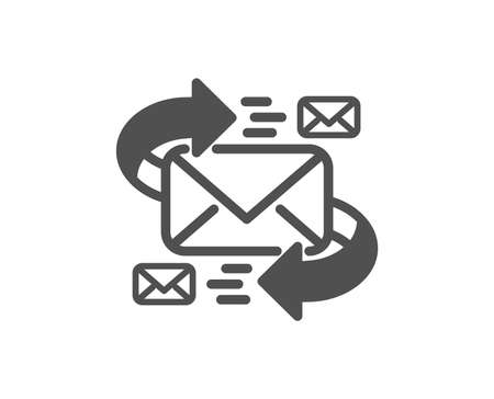 Mail icon. Communication by letters symbol. E-mail chat sign. Quality design element. Classic style icon. Vector