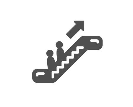 Escalator icon. Elevator sign. Shopping stairway symbol. Quality design element. Classic style icon. Vector
