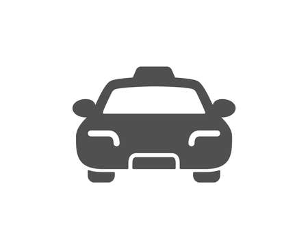 Taxi icon. Client transportation sign. Passengers car symbol. Quality design element. Classic style icon. Vector