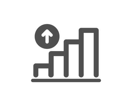 Graph icon. Column chart sign. Growth diagram symbol. Quality design element. Classic style icon. Vector