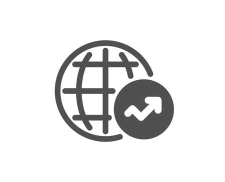 World Statistics icon. Report chart or Sales growth sign. Data Analysis graph symbol. Quality design element. Classic style icon. Vector
