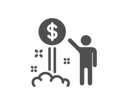 Income money icon. Wealth sign. Credit card symbol. Quality design element. Classic style icon. Vector Illustration