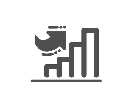 Growth chart icon. Column graph sign. Market analytics symbol. Quality design element. Classic style icon. Vector