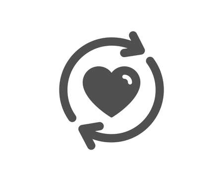 Update relationships icon. Love dating symbol. Valentines day sign. Quality design element. Classic style icon. Vector Ilustração