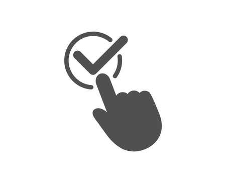 확인란 아이콘입니다. 수락되거나 확인된 기호입니다. 기호를 승인합니다. 품질 디자인 요소입니다. 클래식 스타일 아이콘입니다. 벡터