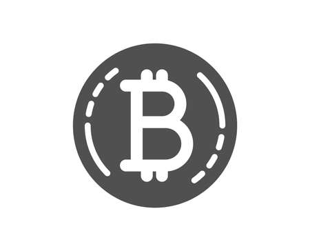 Bitcoin icon. Cryptocurrency coin sign. Crypto money symbol. Quality design element. Classic style icon. Vector