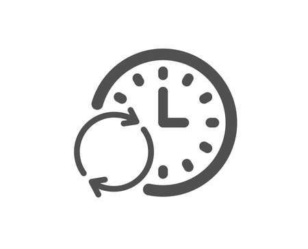 Time icon. Update clock or Deadline symbol. Time management sign. Quality design element. Classic style icon. Vector