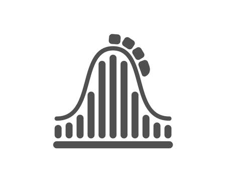 Roller coaster icon. Amusement park sign. Carousels symbol. Quality design element. Classic style icon. Vector Illustration