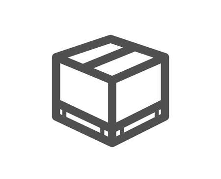 Parcel box icon. Logistics delivery sign. Package tracking symbol. Quality design element. Classic style icon. Vector