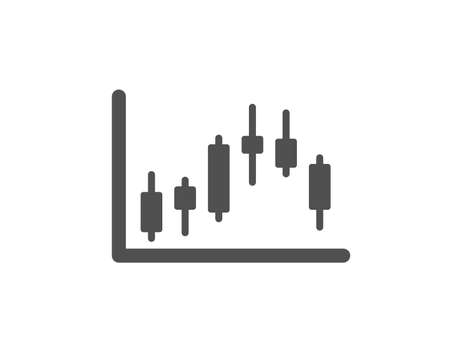 Candlestick chart icon. Financial graph sign. Stock exchange symbol. Business investment. Quality design element. Classic style icon. Vector Zdjęcie Seryjne - 126675325