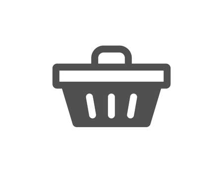Shopping cart icon. Online buying sign. Supermarket basket symbol. Quality design element. Classic style icon. Vector Archivio Fotografico - 126675330