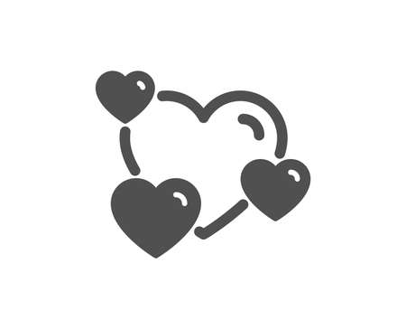 Hearts icon. Favorite like sign. Positive feedback symbol. Quality design element. Classic style icon. Vector Illustration
